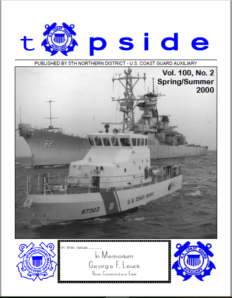 Topside Front Page Spring Summer edition 2000