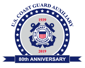 80th anniversary logo for CG Auxiliary