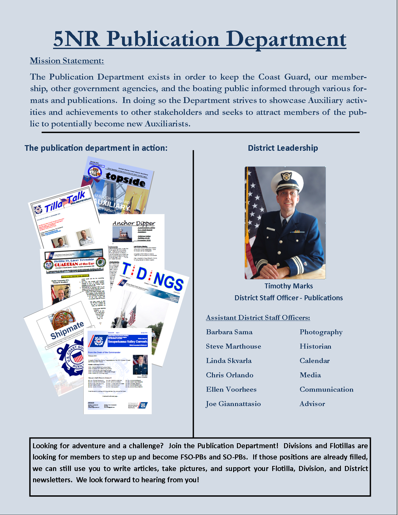 Publications Flyer